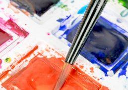 Watercolour Paints and Paint Brush